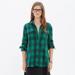 Madewell • Flannel Cargo Workshirt Buffalo Check